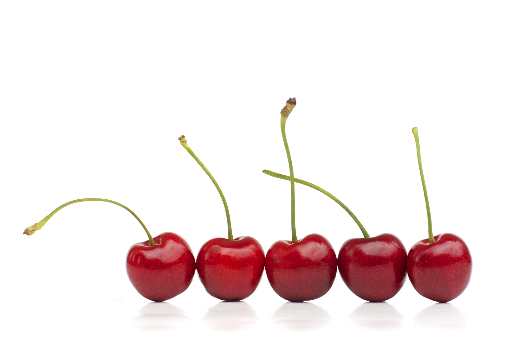 Red Cherries in a Row